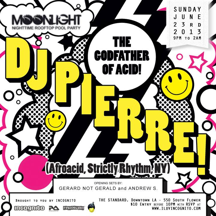 Tonight moonlight rooftop pool party feat acid house for Acid house party