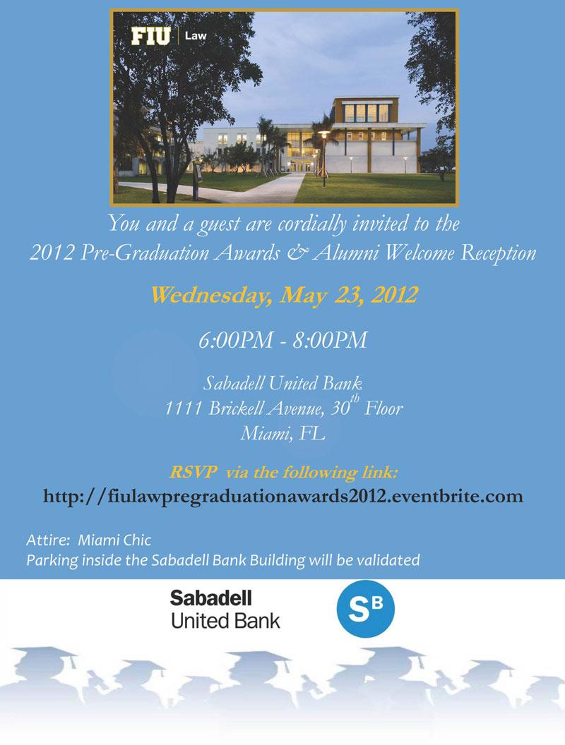 2012 Pregraduation Alumni Welcome Reception