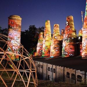 Illumination Schachtofenbatterie Freundetreffen Festival