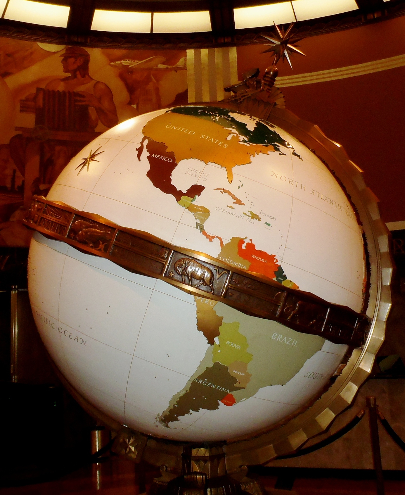 The Art Deco globe at The Times
