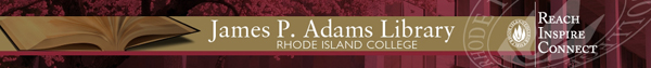 James P. Adams Library Banner