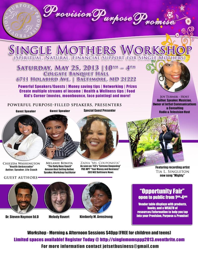 Single Mother's Workshop Flyer