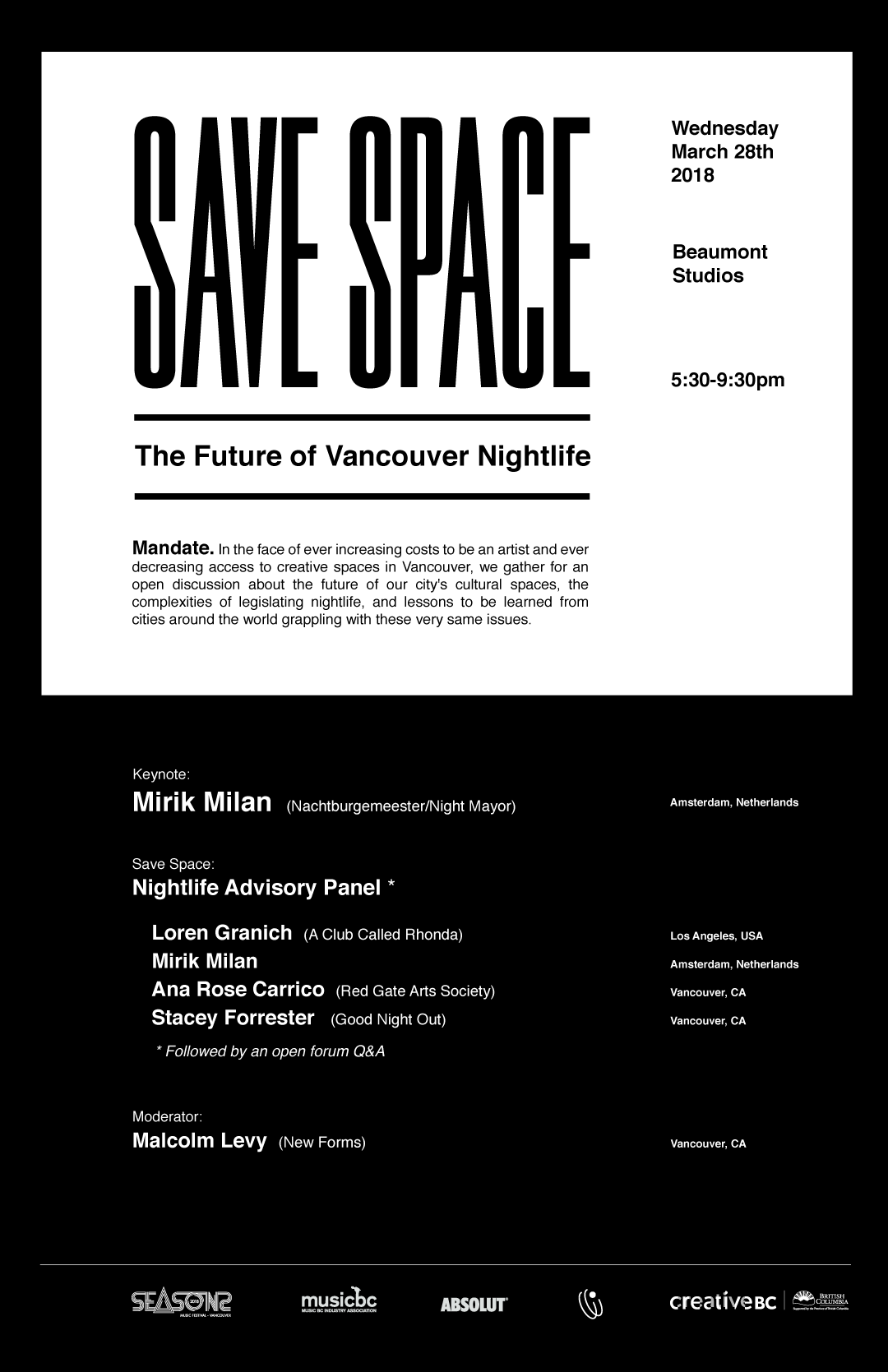 Save Space Poster