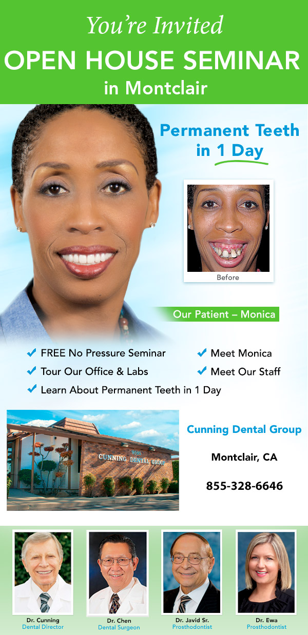 Montclair Open House Seminar - Permanent Teeth in 1 Day