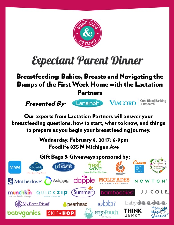 February expectant parents dinner breastfeeding