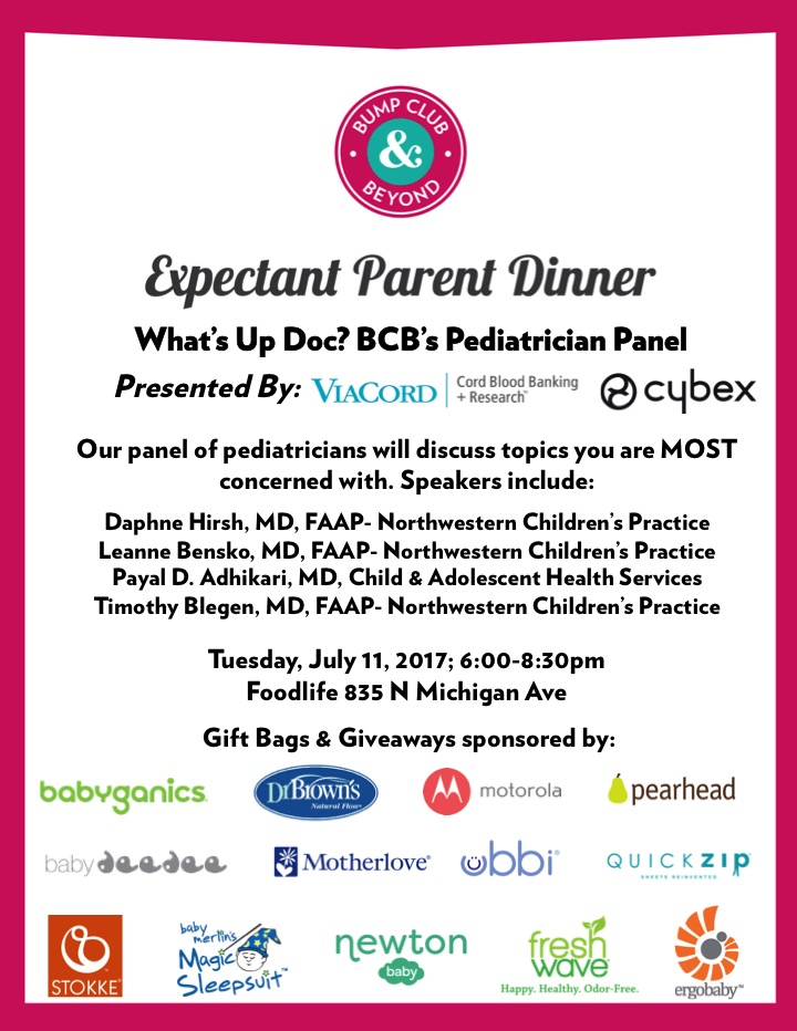 BCBumps Expectant Parent Dinner Pediatrician Panel