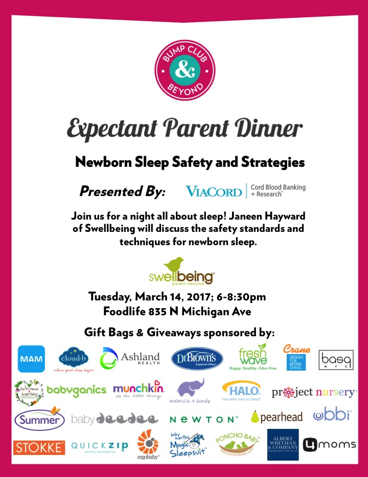 Expectant Parent Dinner Newborn Sleep Safety and Strategies