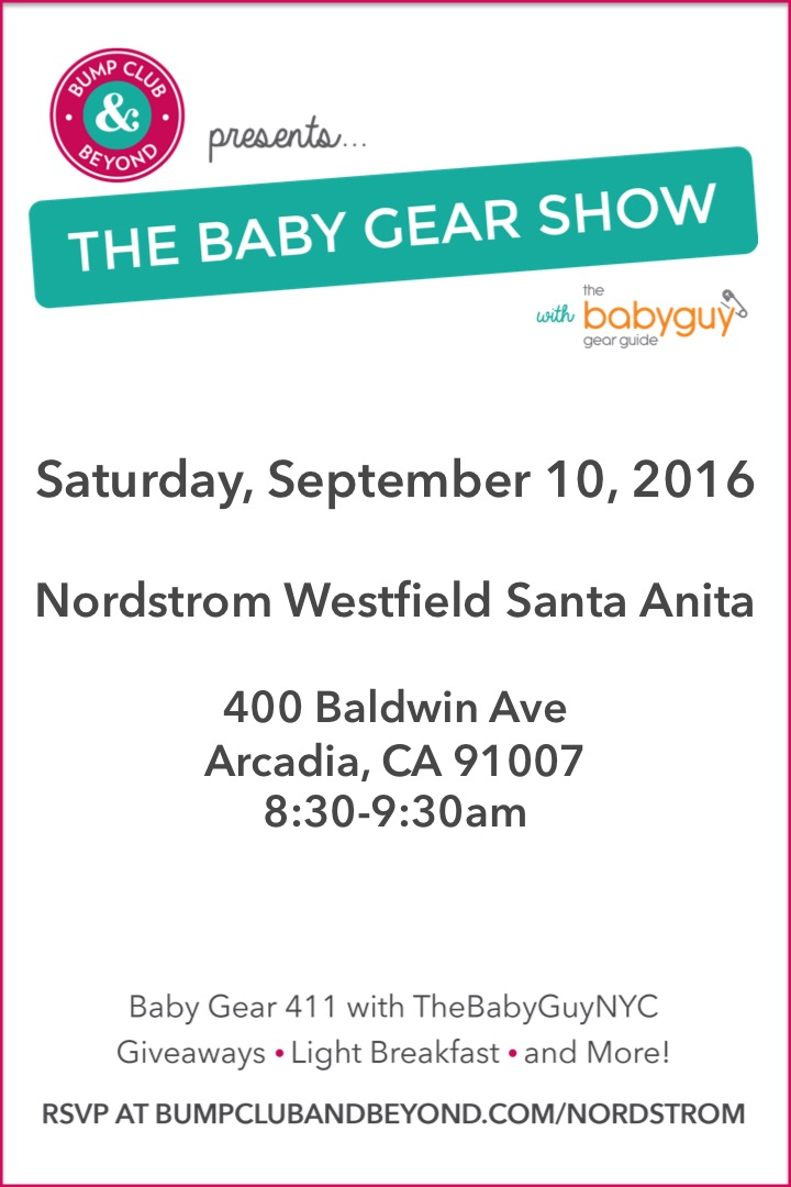 Bump Club And Beyond Presents The Baby Gear Show With The