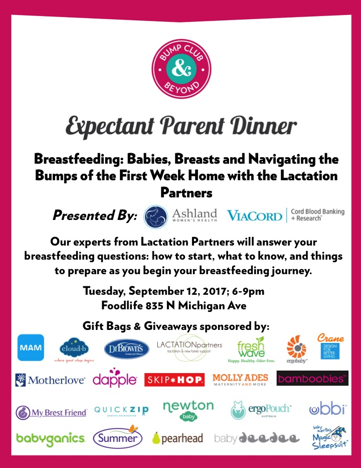 BCBumps Expectant Parent Dinner Breastfeeding
