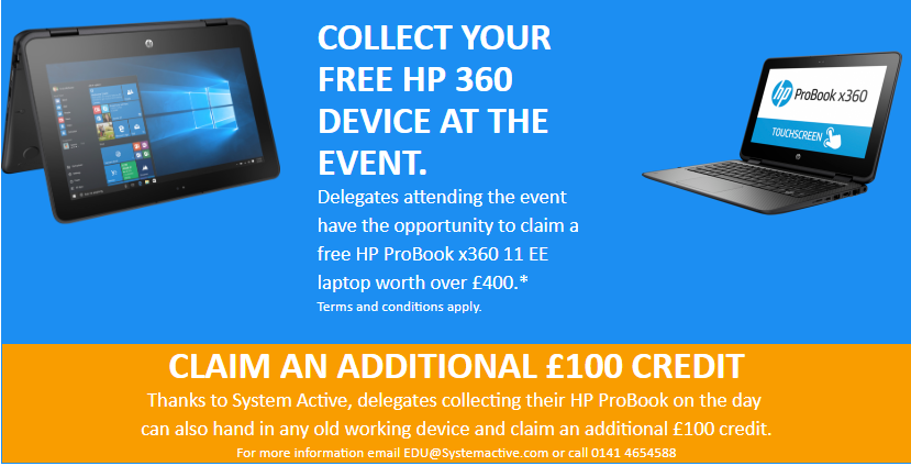 Collect your free HP 360 device