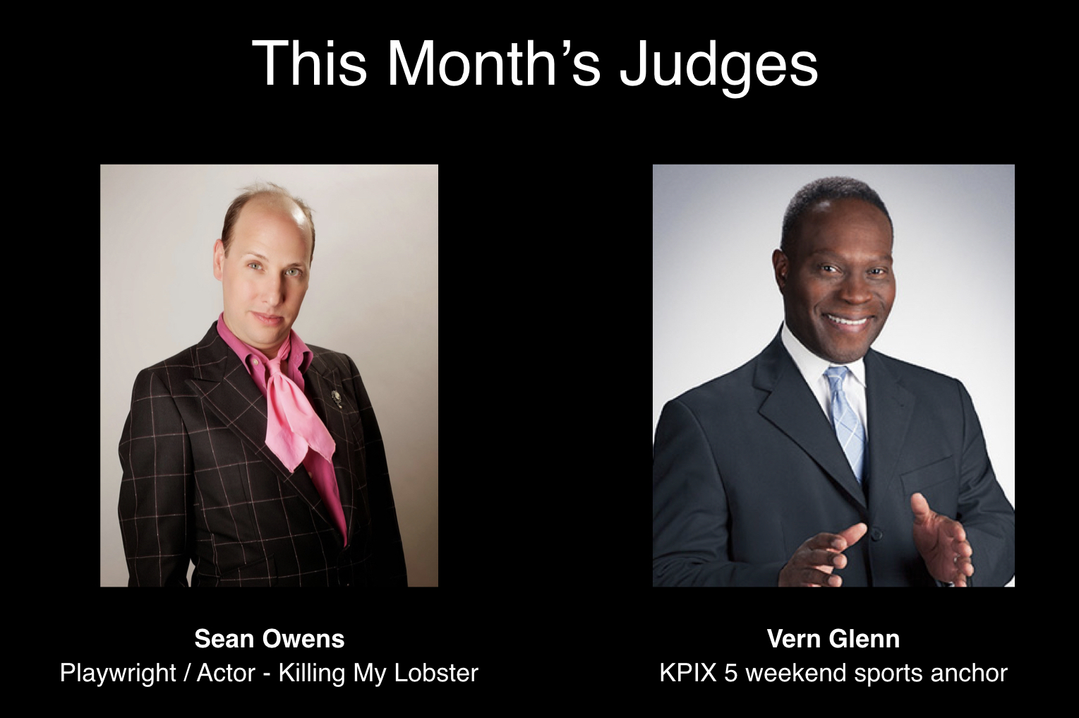 March 2019 Speechless Live Judges: Sean Owens and Vern Glenn