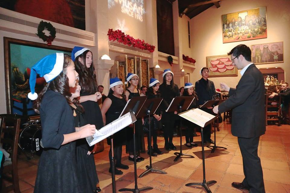 Choir Performing at Winter Benefit Dinner 2015
