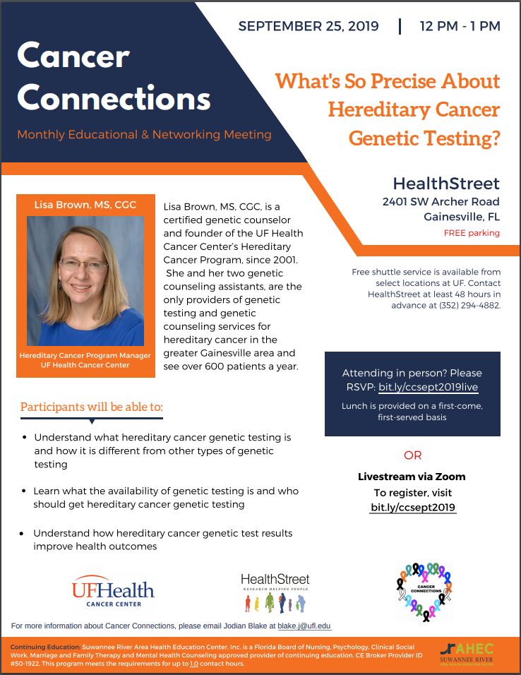Cancer Connections September 2019 flyer