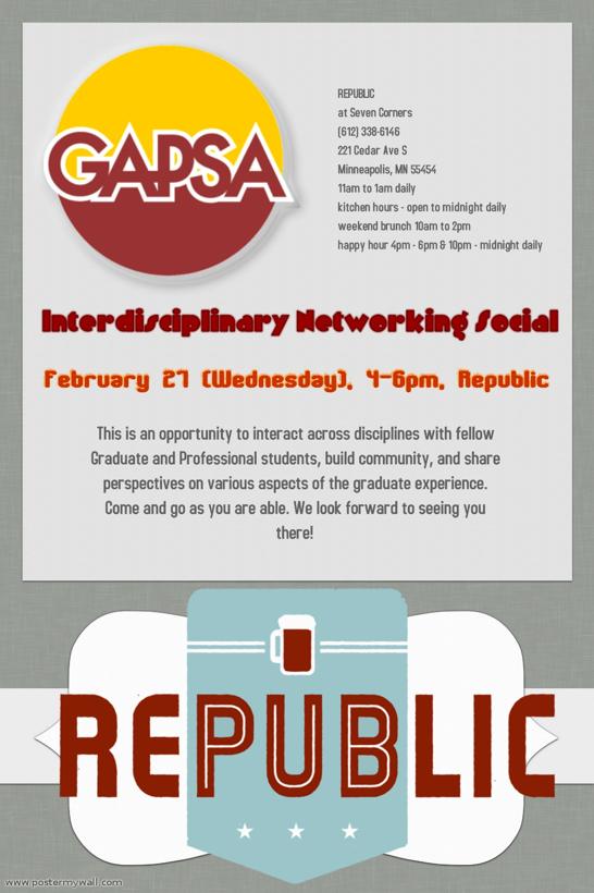 Flier - GAPSA Event
