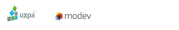 UXPA DC and modev logos