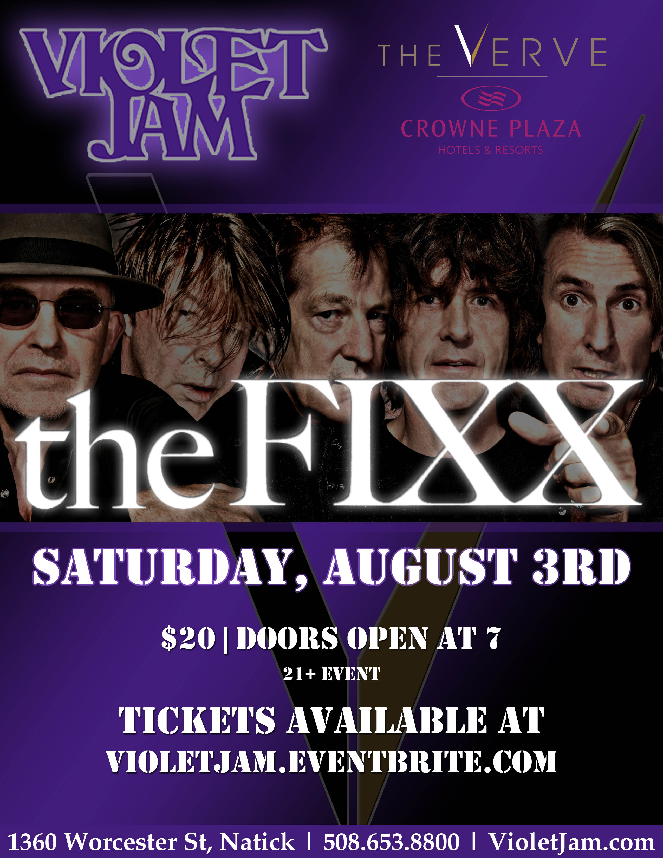 The Fixx - Live at the Violet Jam, The Verve - Crowne Plaza Hotel