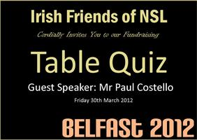 Irish Friends of NSL Fundraising Quiz Night