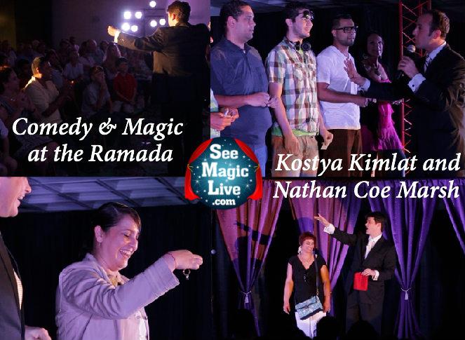 A Stage Magic Show featuring Nathan Coe Marsh and Kostya Kimlat the Ramada Gateway Hotel in Orlando, Florida.