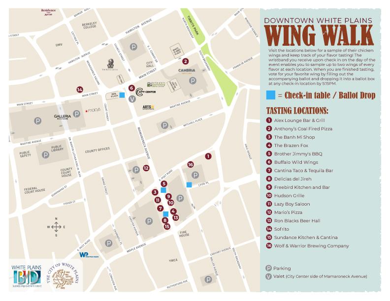 Wing Walk 2019 Map - Update