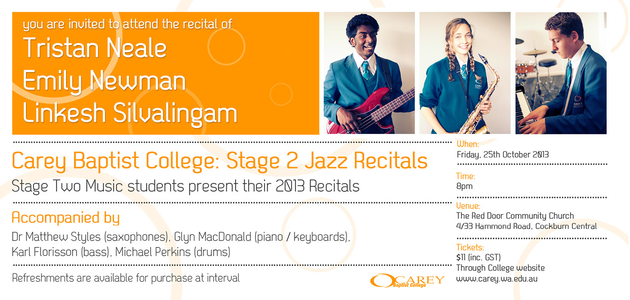Stage Two Jazz Recitals