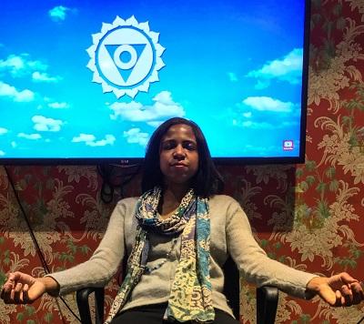 Coach Colette meditating