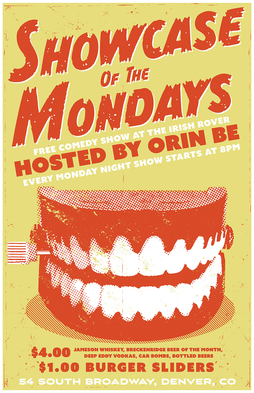free stand up comedy show denver every monday nights
