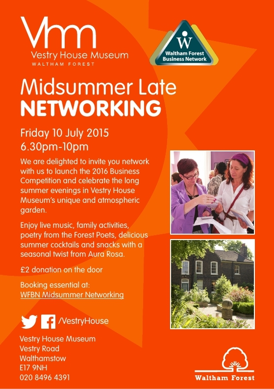 WFBN Summer Networking at Vestry House Museum July 2015