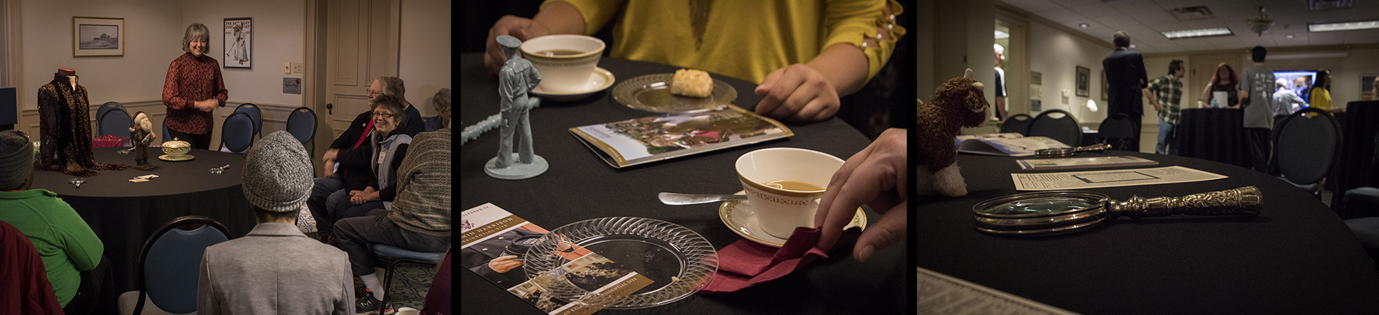 Photographs from coffee with the curator