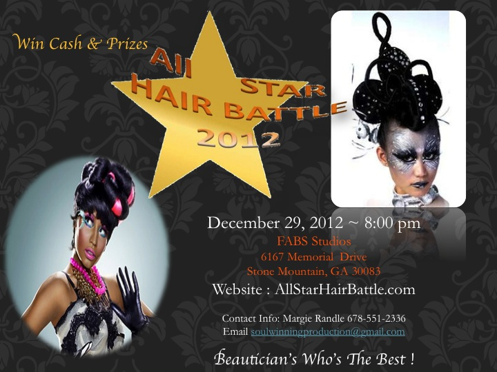 All Star Hair Battle Flyer