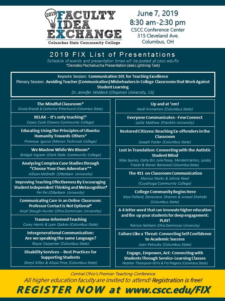 2019 FIX Presentations