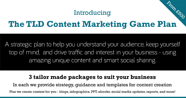 Introducing - the TLD Content Marketing Game Plan