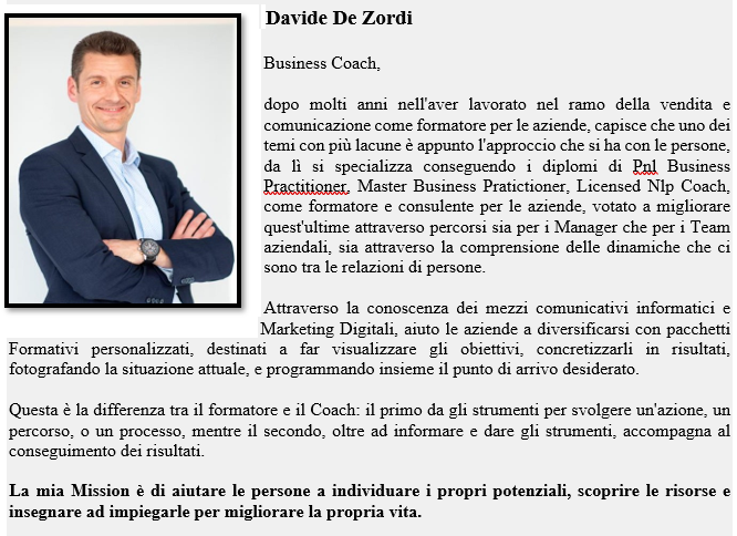 Davide De Zordi Business Coach