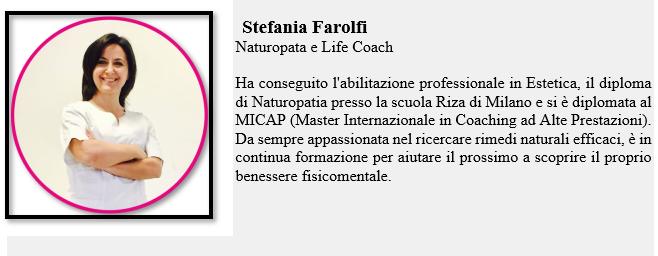 Stefania Farolfi Naturopata Life Coach