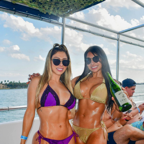 boat party in miami beach hot girls
