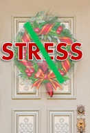 No stress wreath on the door