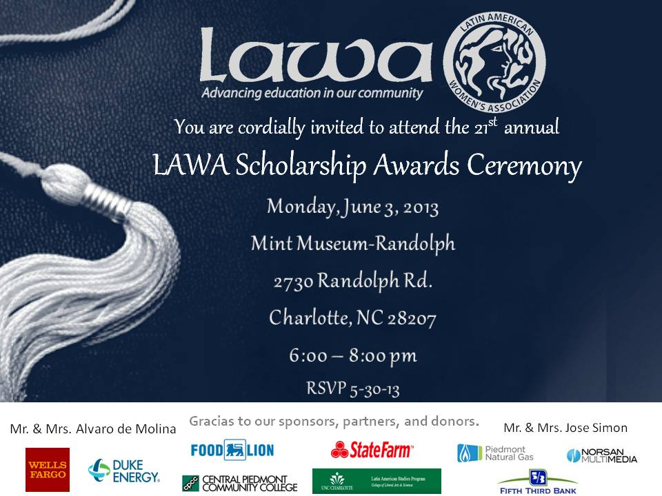 Scholarship Ceremony Invite