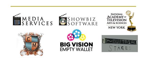 Media Services, Showbiz Software, Natiojnal Academy of Television Arts & Sciences, Chelsea Manor, Big Vision Empty Wallet, Industrial Stages, Final Draft, Showbiz Store & Cafe