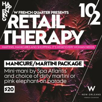 Martini and Manicure package at Retail Theraphy