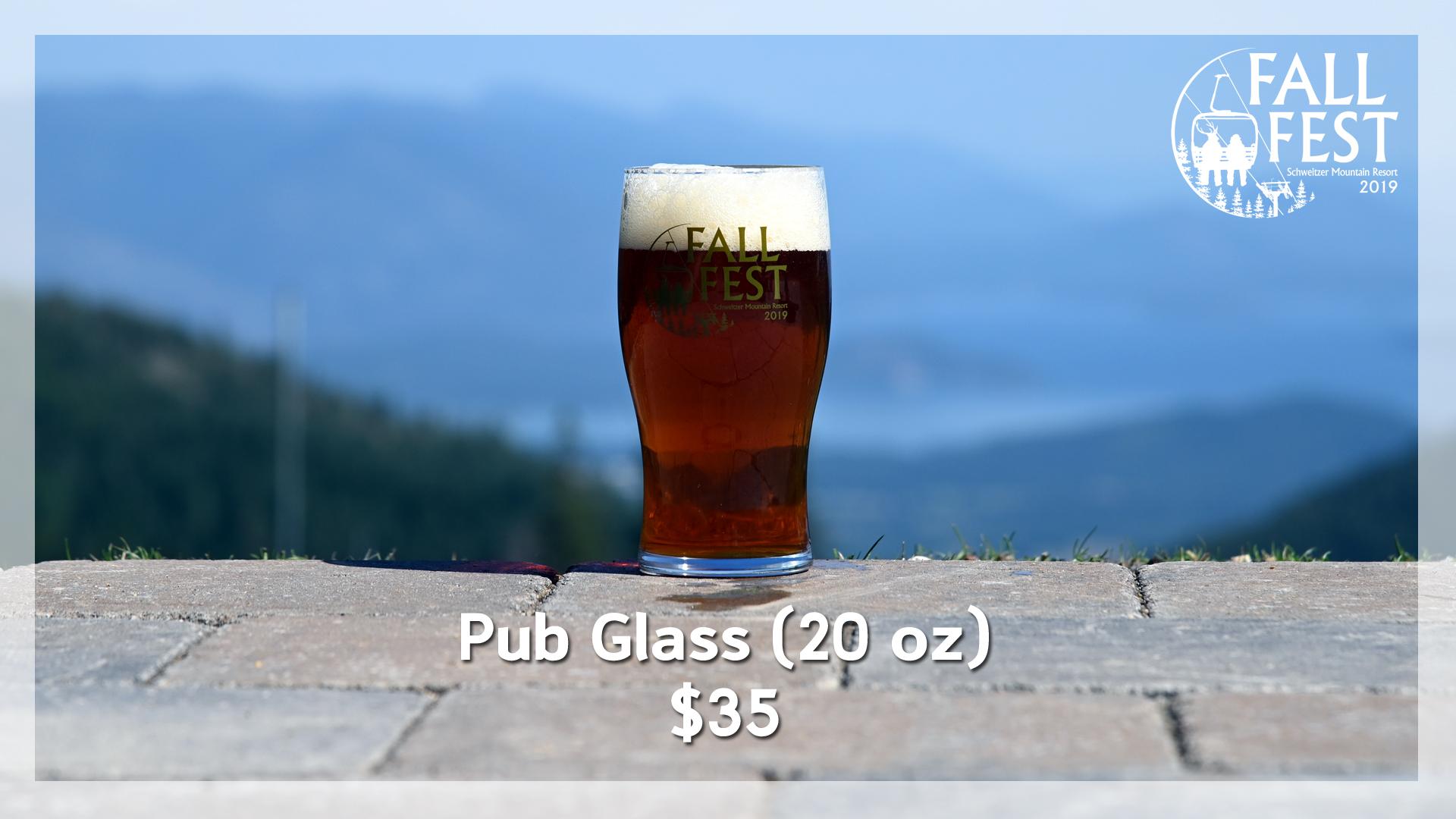 Fall Fest Pub Glass