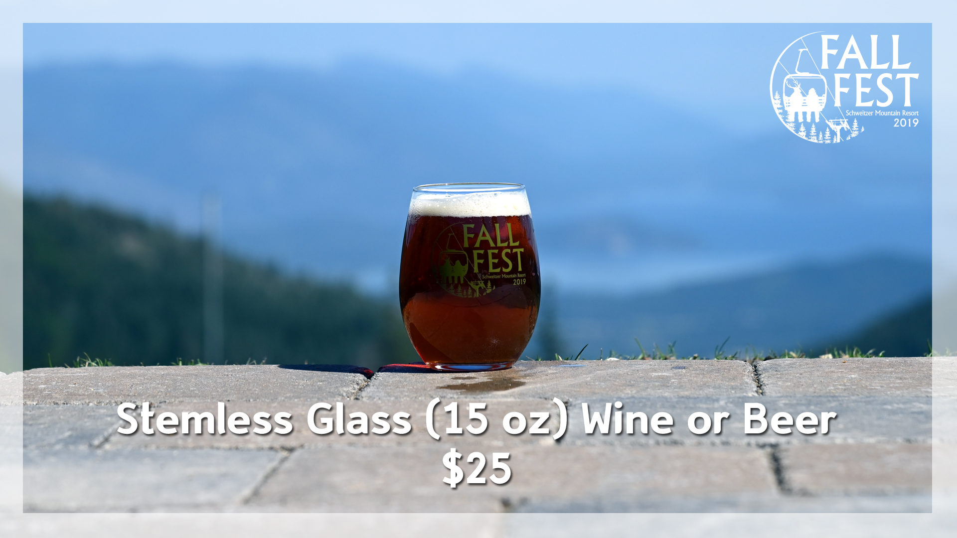 Fall Fest Stemless Glass