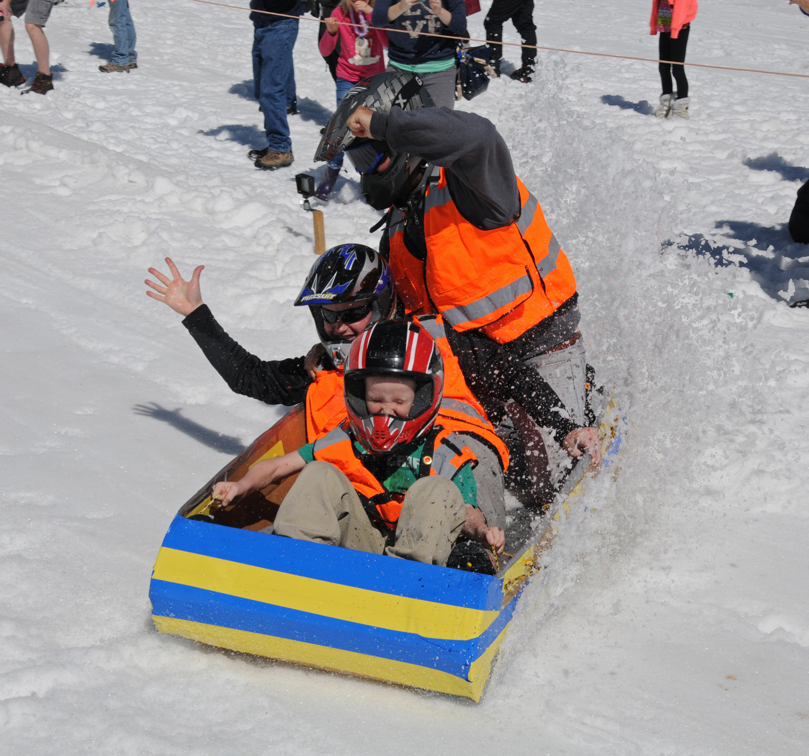 team KXLY in their sled