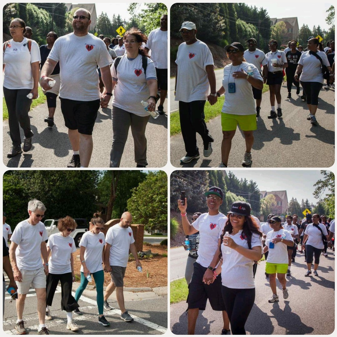 2017 Married 4 Life Walk couples holding hands