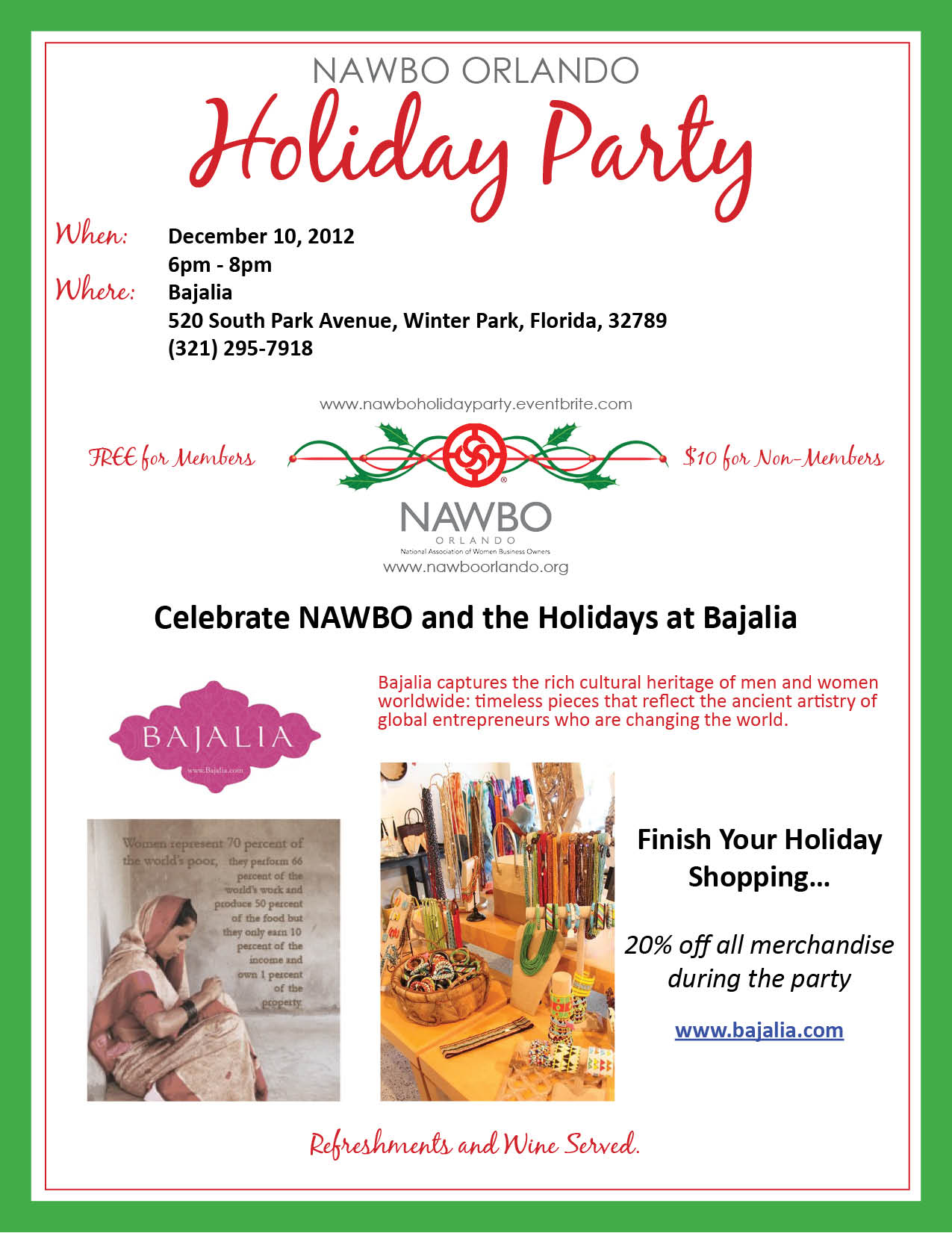 NAWBO Orlando 2013 Holiday Party