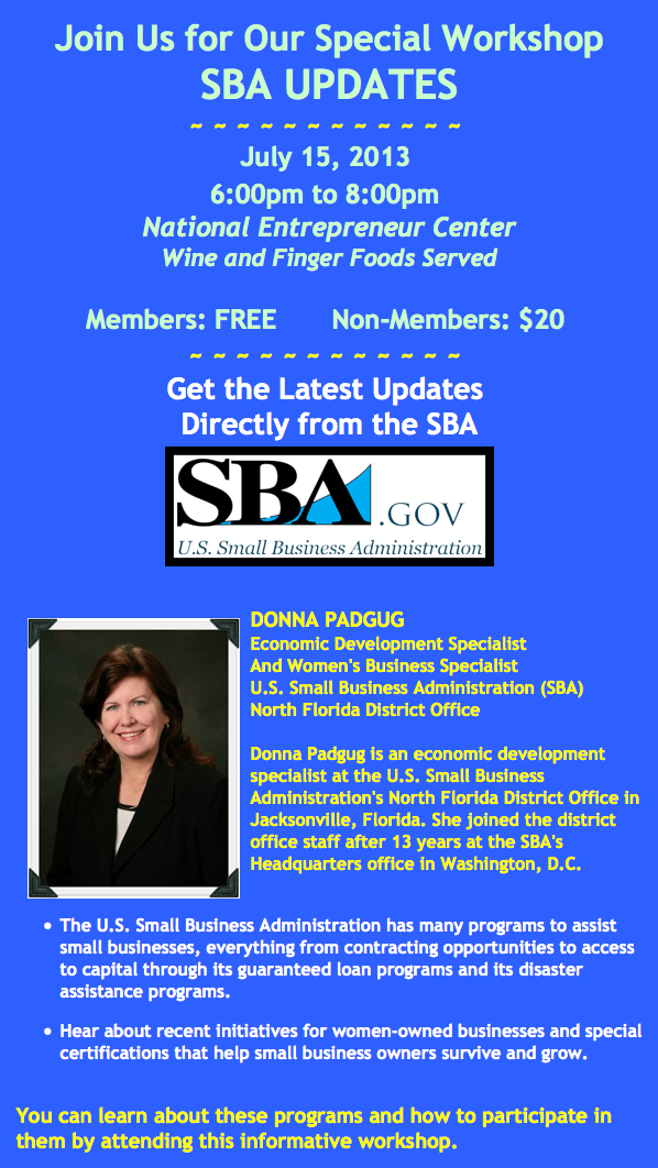 SBA Updates - Donna Padgug