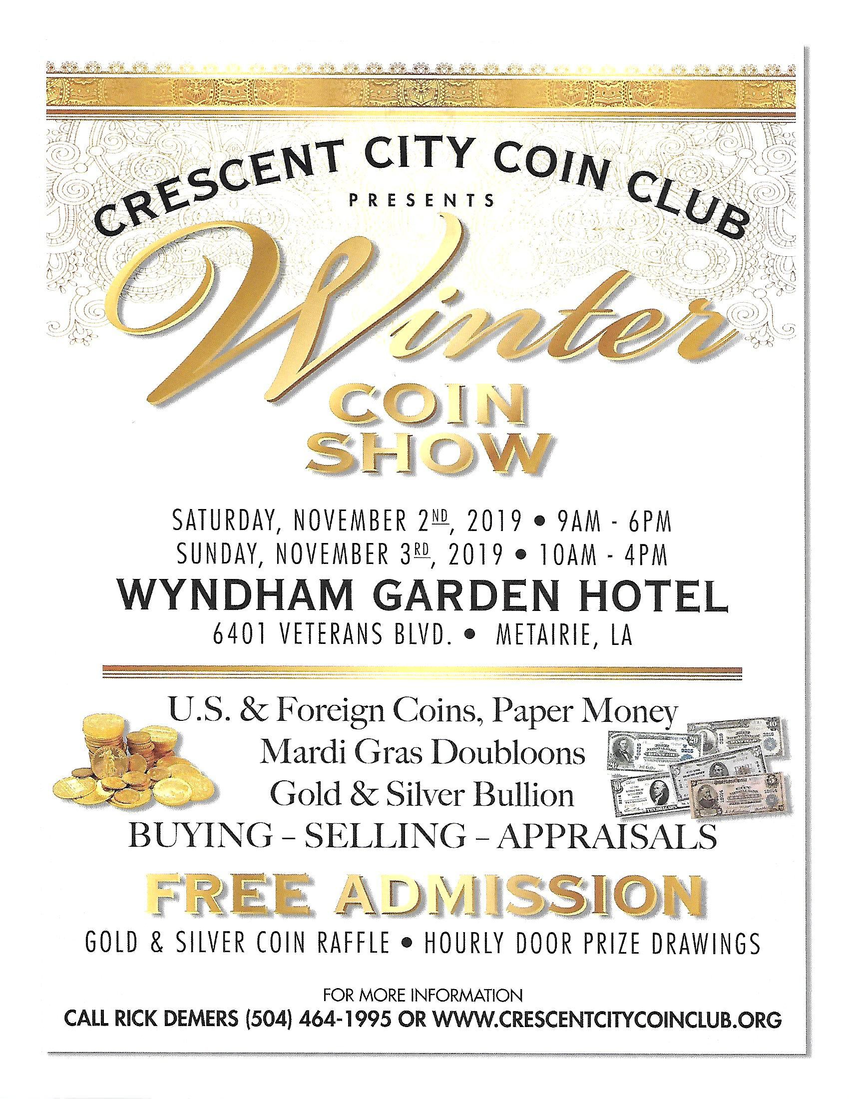 Crescent City Coin Club Winter Coin Show