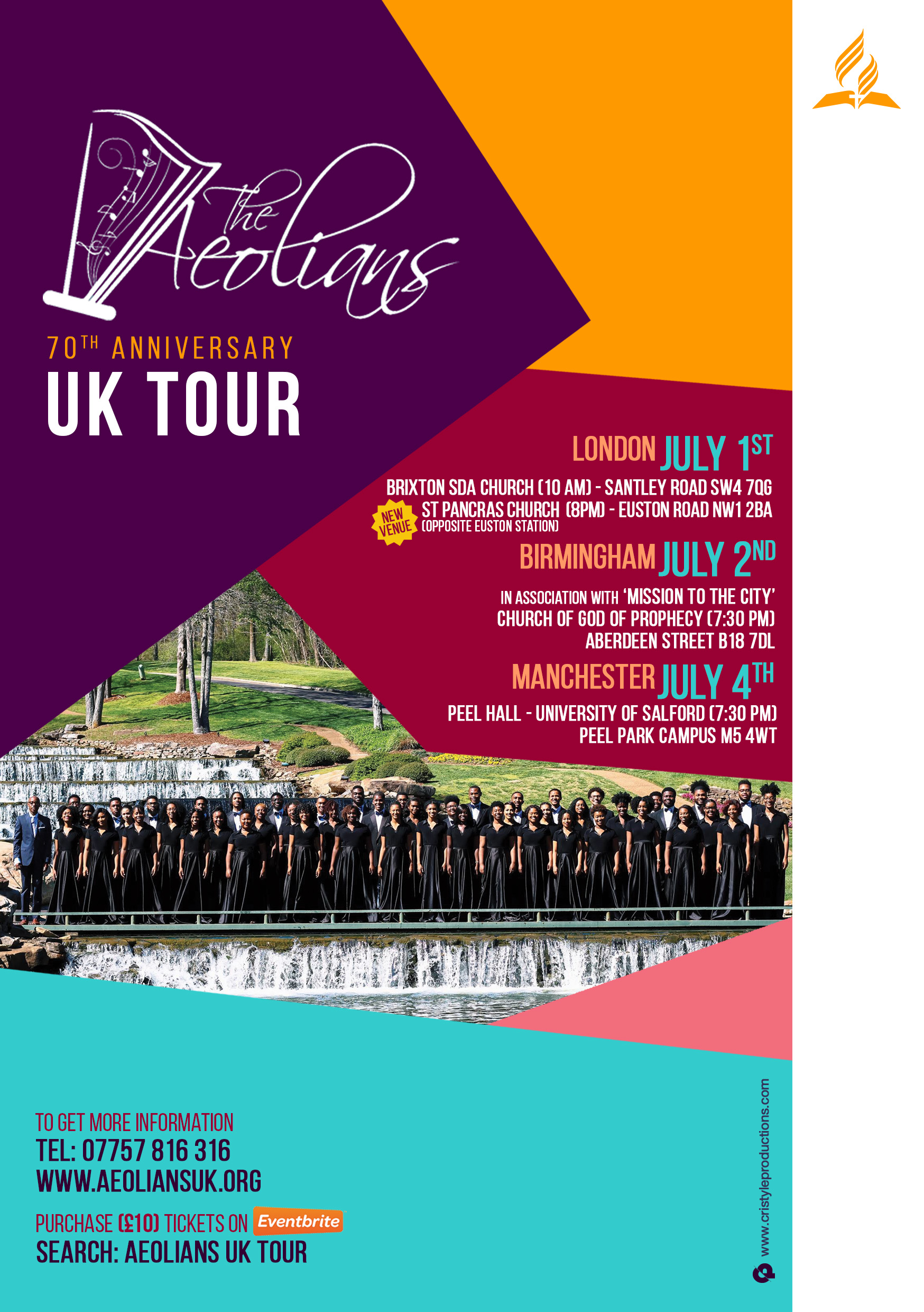 Aeolians tour flyer