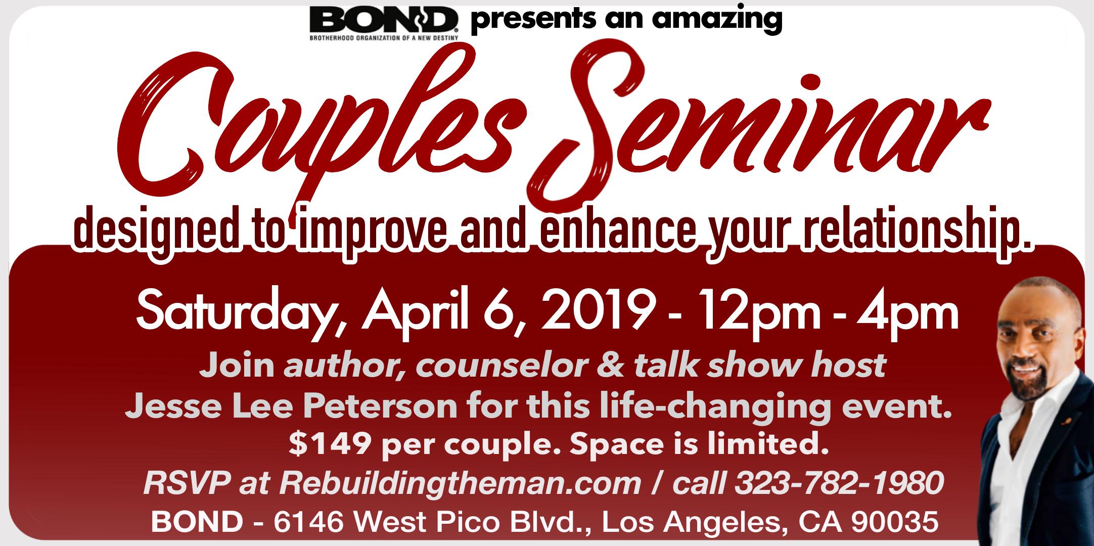 BOND Couples Seminar 2019