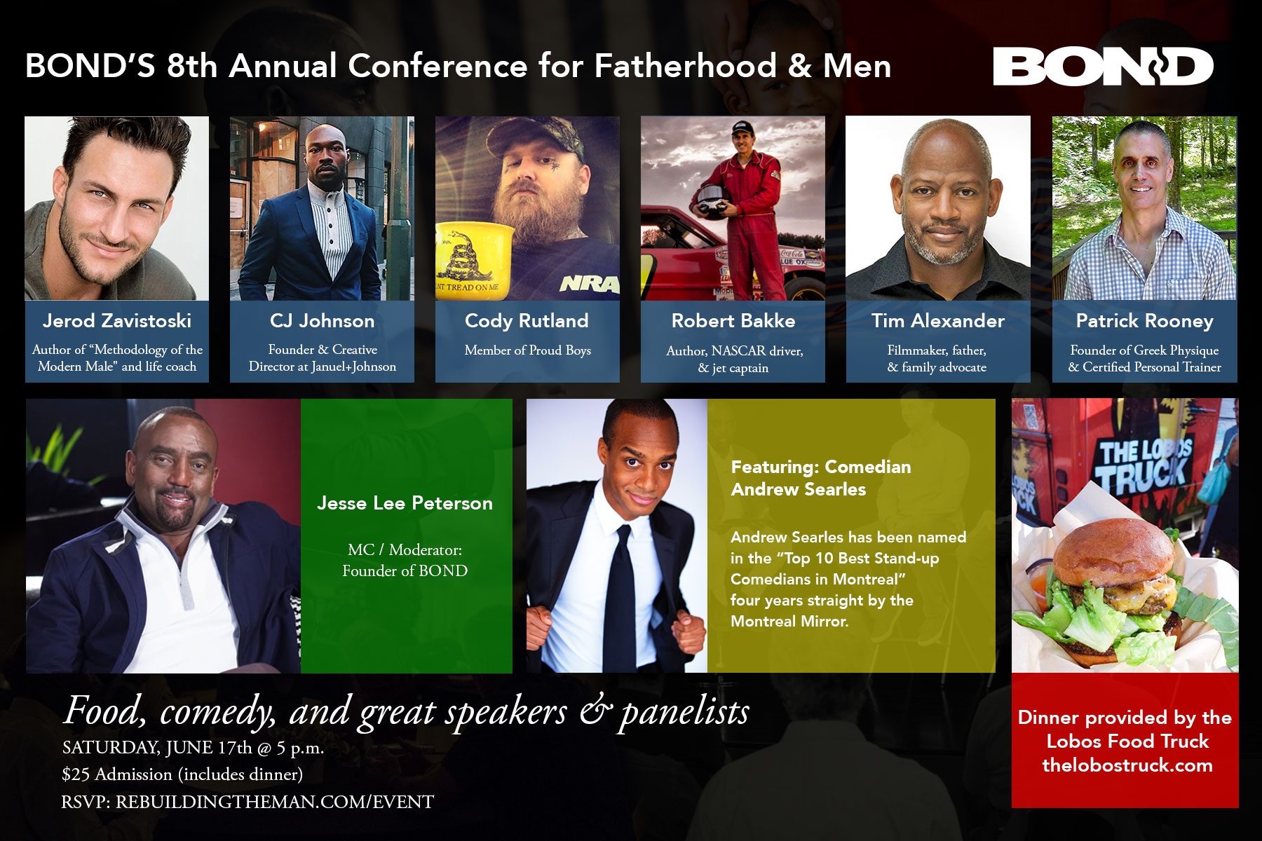 Flyer Speaker for BOND's Conference for Fatherhood and Men