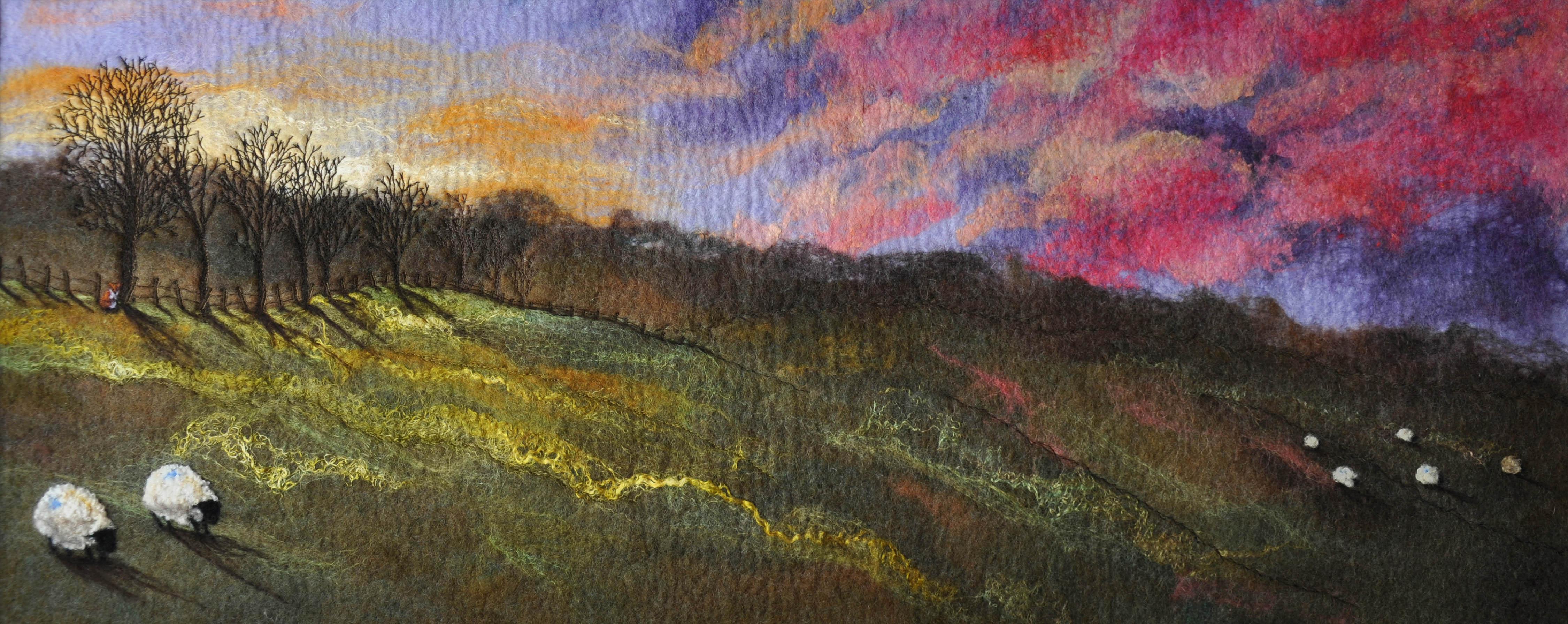 Sue Lewis Felted Landscape