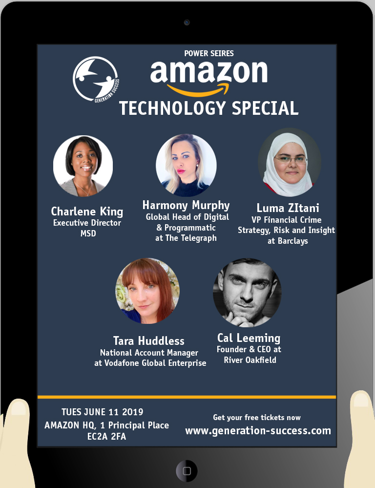 Last chance to attend Amazon Technology special #tech #LTW #Innovation #RoleModels #Careers #London